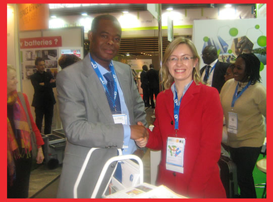Mr Bruno Dangba TOUTOUKPE, Ivoire W3E founder and one of the exhibitors The Bridge MAG. Image