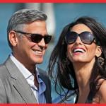 Les photos parlent d'elles-mêmes : les visages radieux d'Amal et George Clooney expriment l'amour. The Bridge MAG. Image