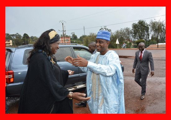 City Council in July 2016 the Mayor of Baganté, Mrs Ketcha Courtès President of the Network of Locally Elected Women of Africa was welcoming the Prefect of Ndé, (West Cameroon) Mr Oumarou Wabi Haman. The Bridge MAG. Image