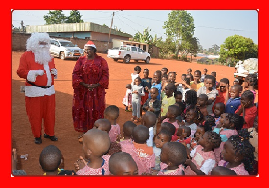 Christmas may have come and gone, but nursery children still remember toys from The Santa Claus Tour and Madam Mayor Mrs. Celestine Ketcha Courtès. The Bridge MAG. Image