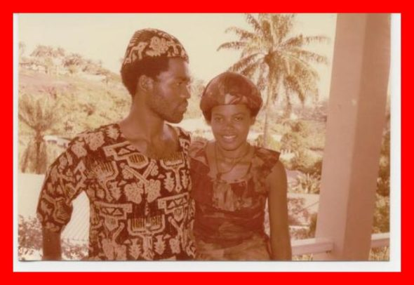 Throwback in their early twenties of their love story. Mr and Mrs Dackam smitten. The Bridge MAG. Image