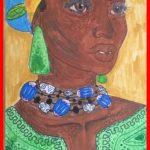 Une représentation de la photographie au dessin par Orchidée Wafo dans sa petite enfance. The Bridge MAG. Image